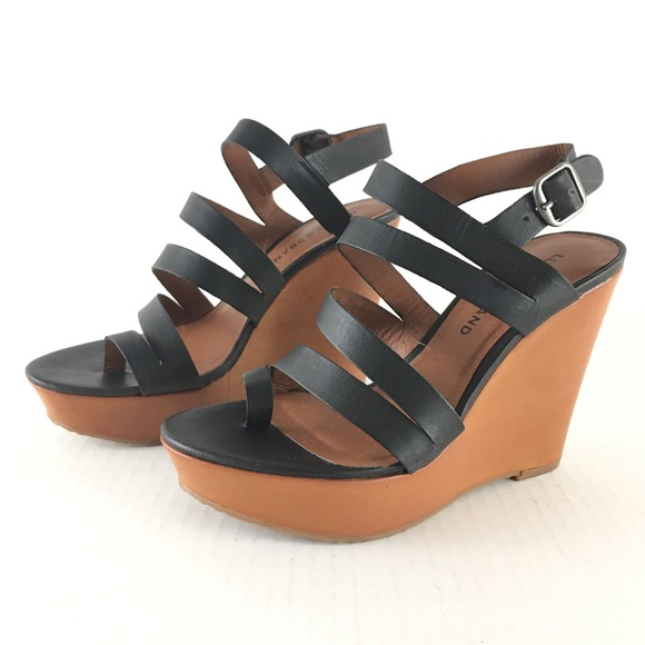 d64e41b8237 Lucky Brand Shoes - Lucky Brand Black Open Toe Wedge Strappy Sandals